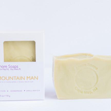 MOUNTAIN MAN Soap // Sandalwood Bergamot French Green Clay // Vegan // Man Soap