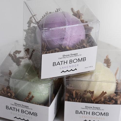 BATH BOMB // Fizzie Fizzy // Essential Oil // Vegan // All Natural // 5oz
