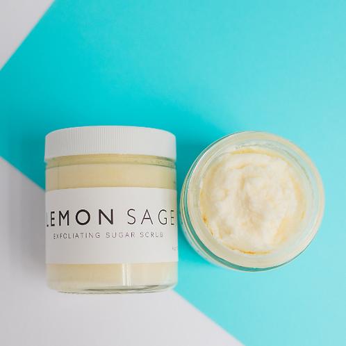 LEMON SAGE // Sugar Scrub // Essential Oils // Exfoliating // Vitamin E Oil // N