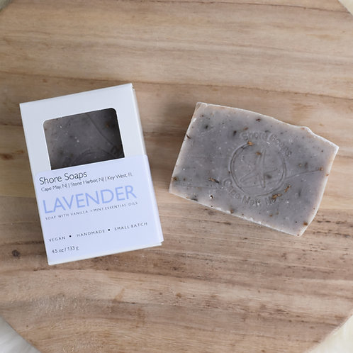 LAVENDER + VANILLA + MINT Soap // Made with Essential Oils // Shea Butter // Exf