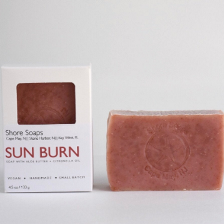 SUN BURN Aloe Bar // Vegan Cold Process // Aloe Butter // Citronella Peppermint
