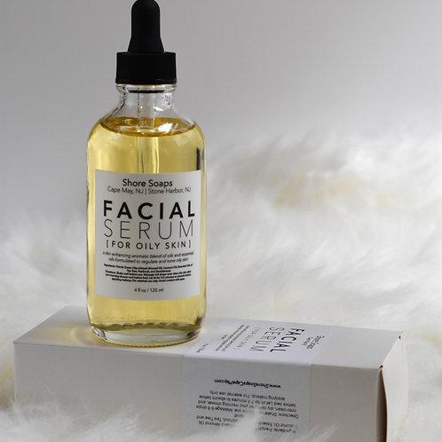 FACIAL SERUM // For Oily Skin // Made with Essential Oils // Almond Oil Jojoba /