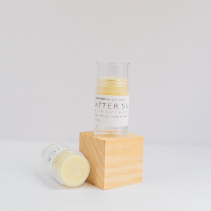 AFTER SUN STICK // Chemical-Free // Made with Essential Oils // Coconut Oil Shea