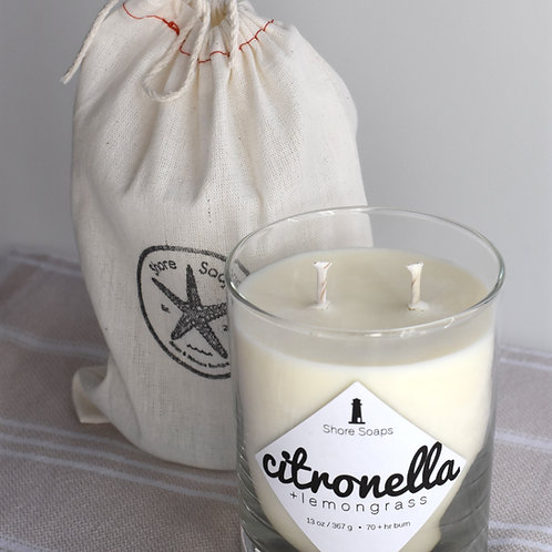 13oz Soy + Essential Oil Candle Tumbler // 70 hour Burn Time // Cotton Wick //