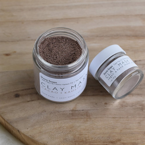 CACAO Clay Mask // Cacao Chocolate + Kaolin Clay // Normal All Skin Types // N
