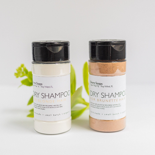 DRY SHAMPOO // All Natural // For Brunette and Blonde Hair // Moisture Control /