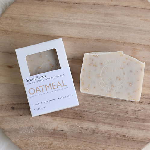 OATMEAL VANILLA Soap // Psoriasis Ezcema // Vegan // Ground Oats Kaolin Clay //