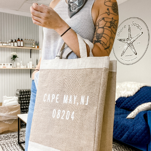 Shore Soaps Custom Apolis Tote Bag // Cape May, NJ 08204 // Stone Harbor, NJ 082
