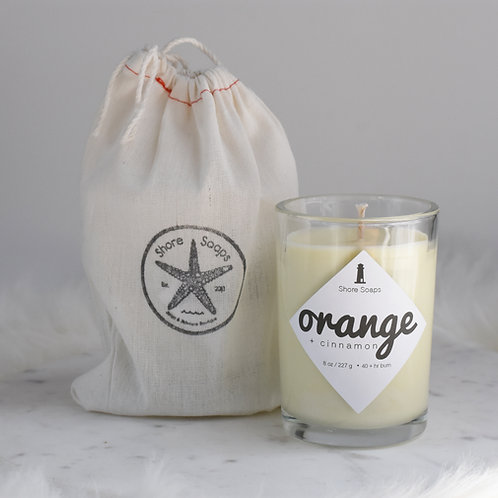 8oz Soy + Essential Oil Candle Tumbler // 40 hour Burn Time // Cotton W