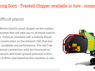Arb Trak 150 Tracked Chipper available for hire