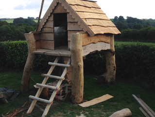 Building of a Pixie Treehouse