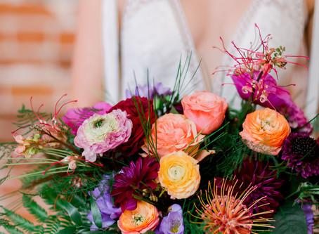 Vibrant Bohemian Style Wedding