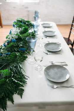 Blue, Gray, and Greenery