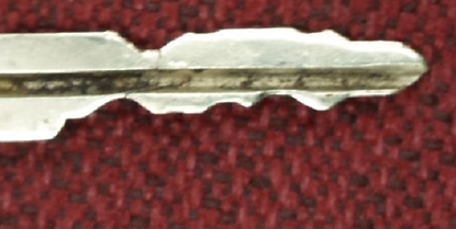 damaged key