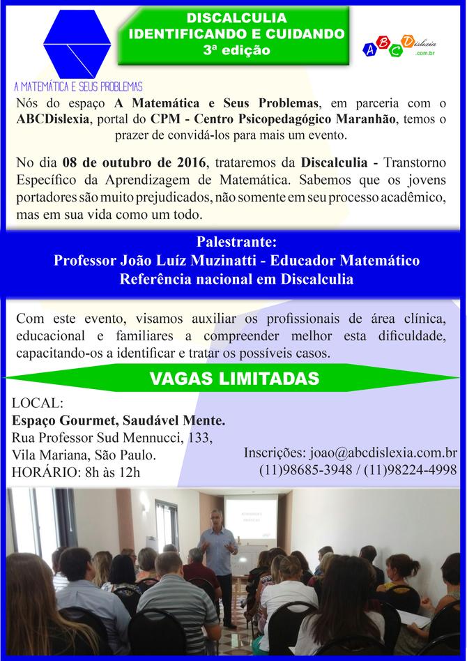 CURSO  DE  FORMAÇÃO  -  DISCALCULIA