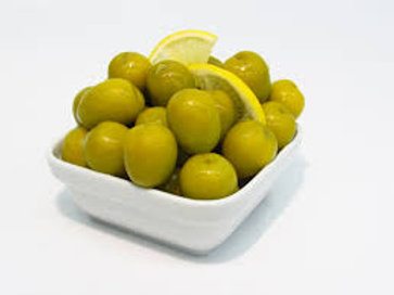 Green Pitted Olives - Plain