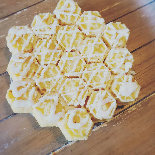 Lemon-Honey Pull Apart Cake - Small Section
