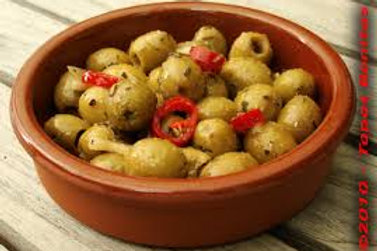 Mixed Green Pitted Olives