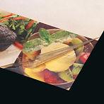 Обычная пленка для ламинации, отслаивается на краях меню через месяц использования.