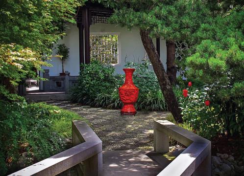 Japanese Garden, Portland, Oregon with Gilbert touch (guess?)
