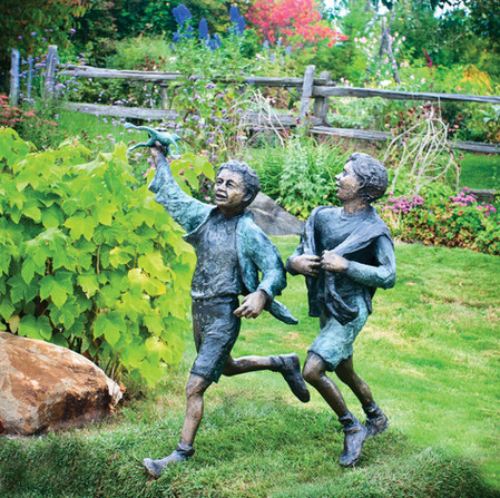 Metal Sculptures by Ralph Hicks, Mulmur Township, Ontario