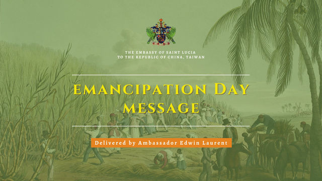 Embassy of Saint Lucia celebrates the Anniversary of the Abolition of Slavery.