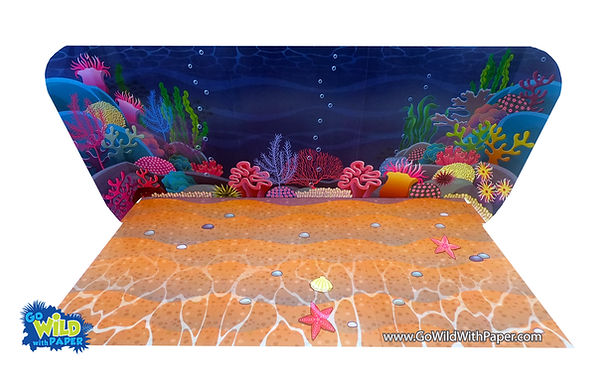 printable coral reef diorama background