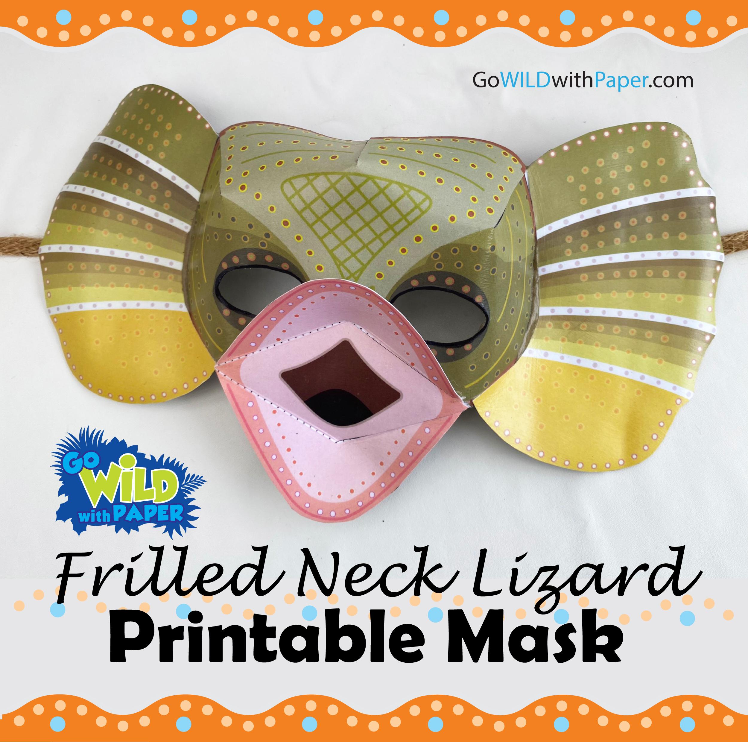 Frilled-Neck Lizard Mask