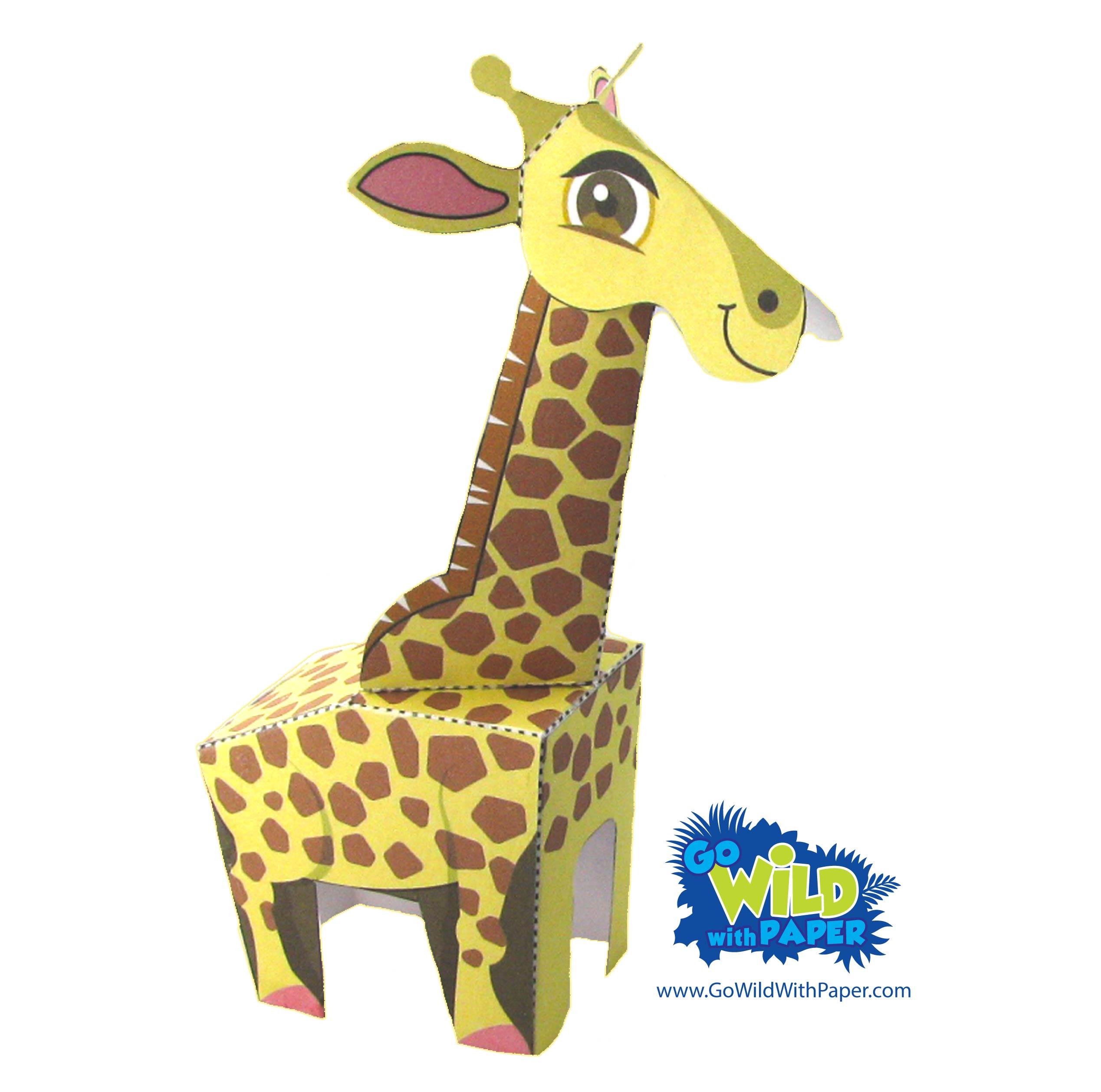 Giraffe Paper Model