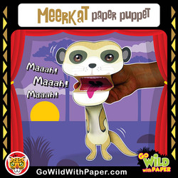 Printable Meerkat Puppet