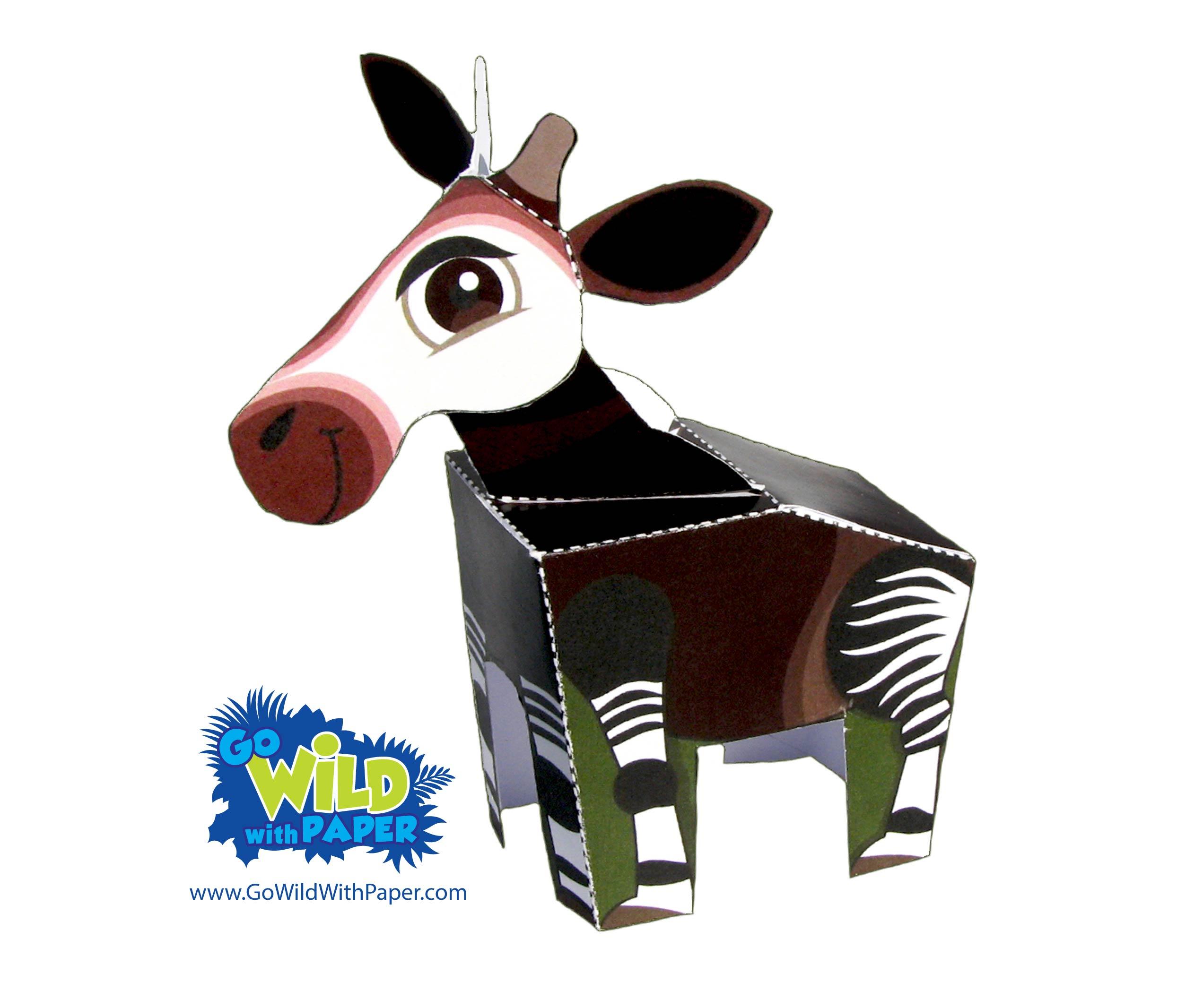 Okapi Paper Model