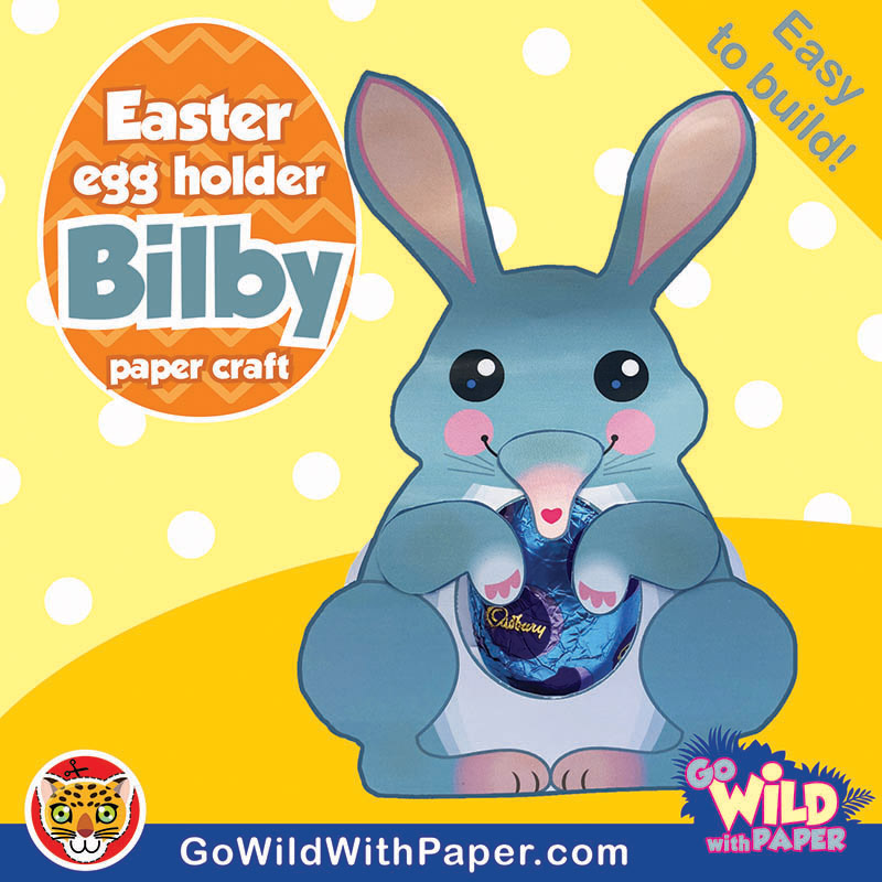 Easter Bilby Craft Template