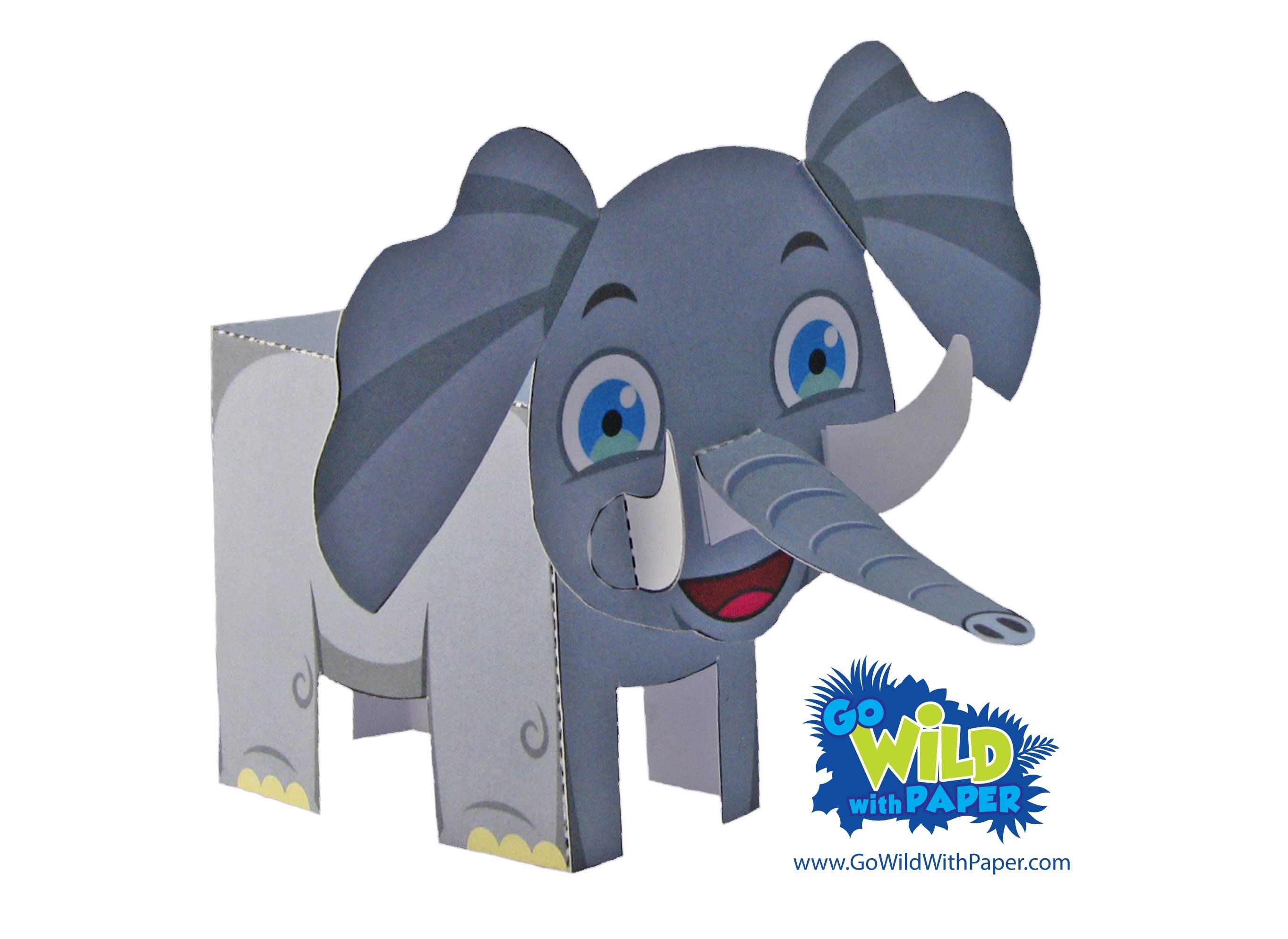 Elephant Paper Model