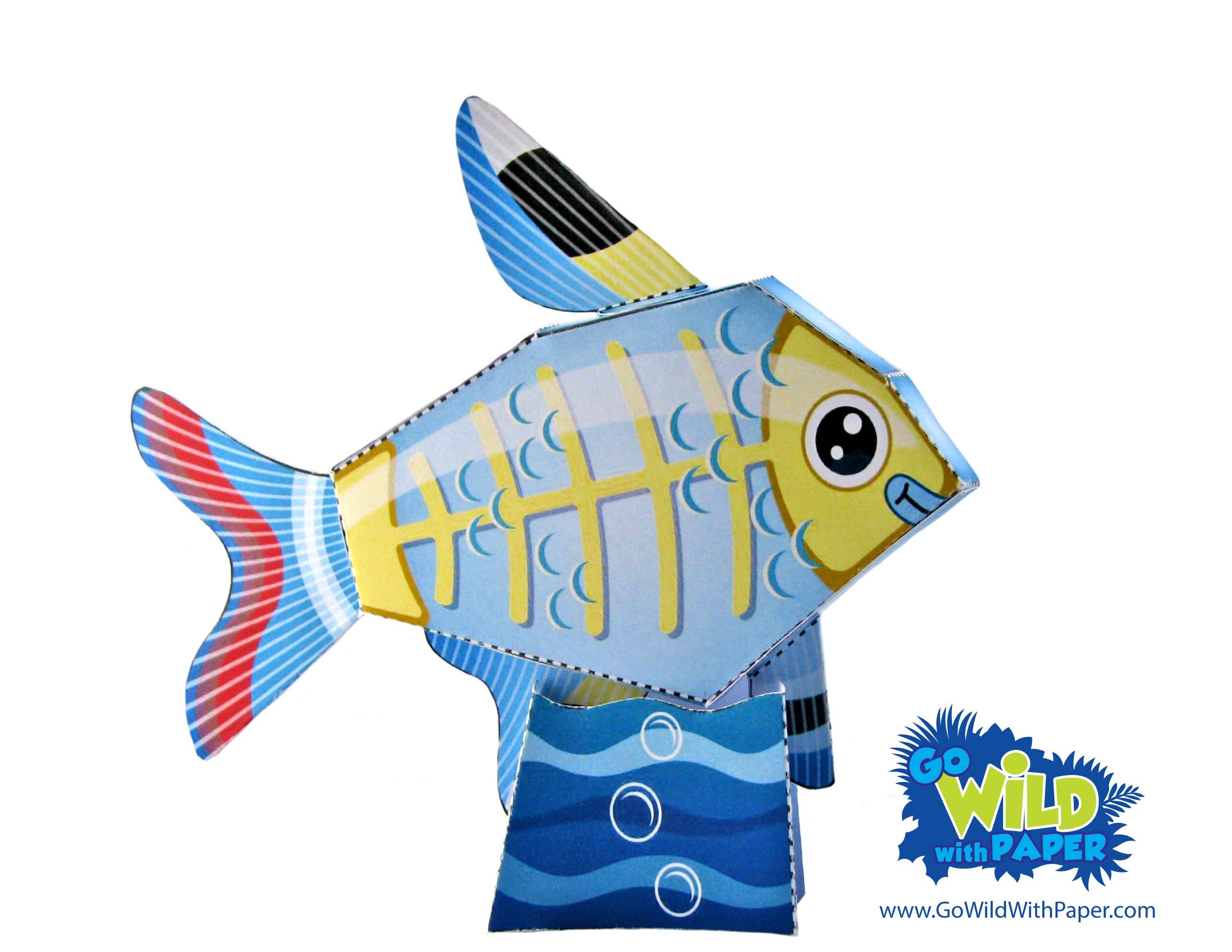 X-ray Fish Paper Model