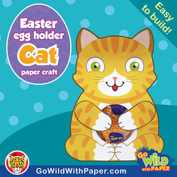 Easter Cat Craft Template