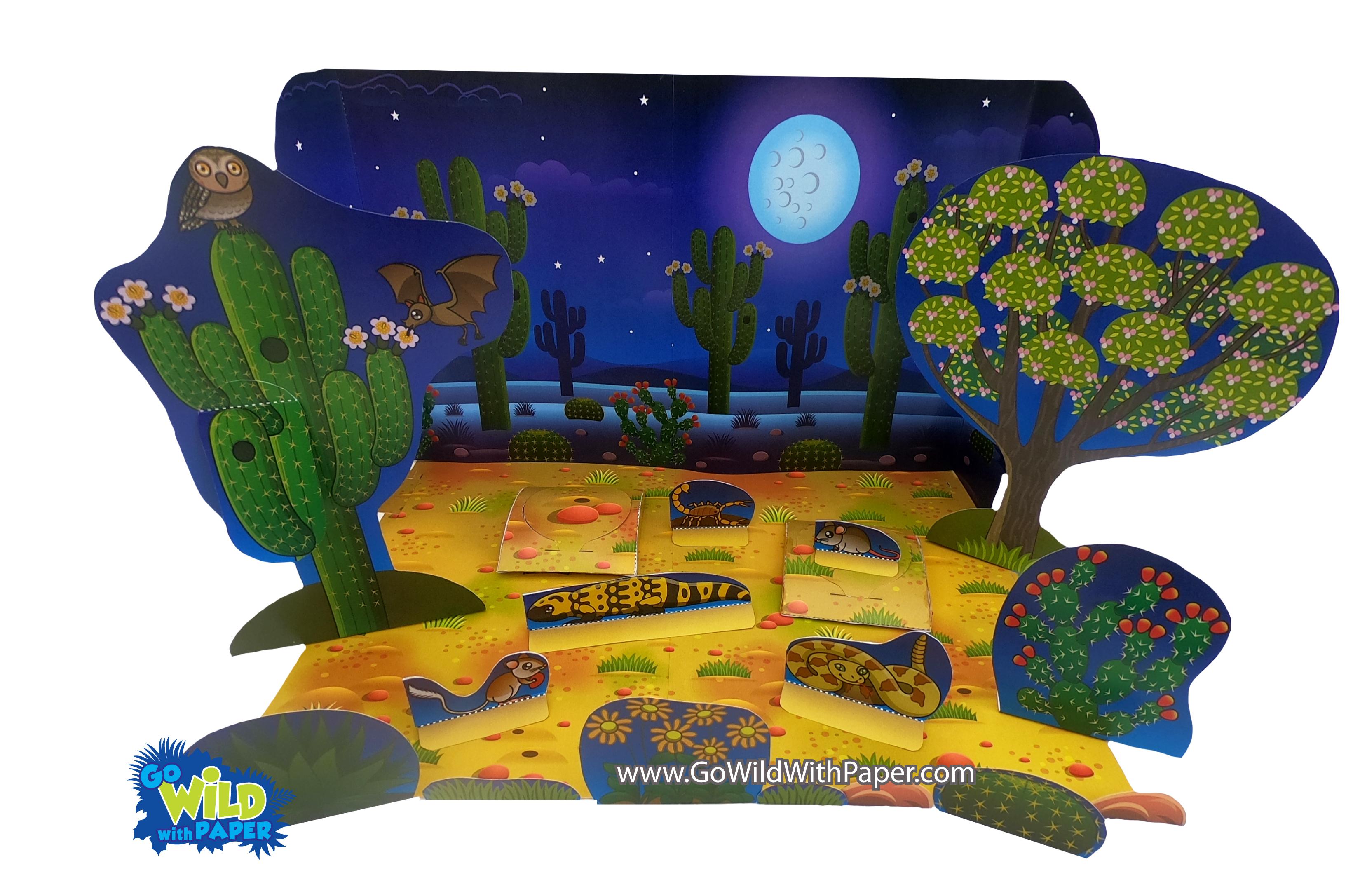 Desert Nocturnal Diorama