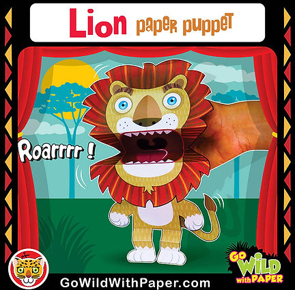 Printable Lion Puppet