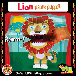 Printable Lion Puppet