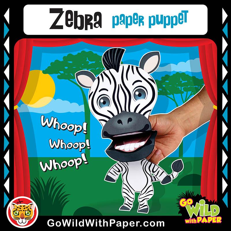 Printable Zebra Puppet