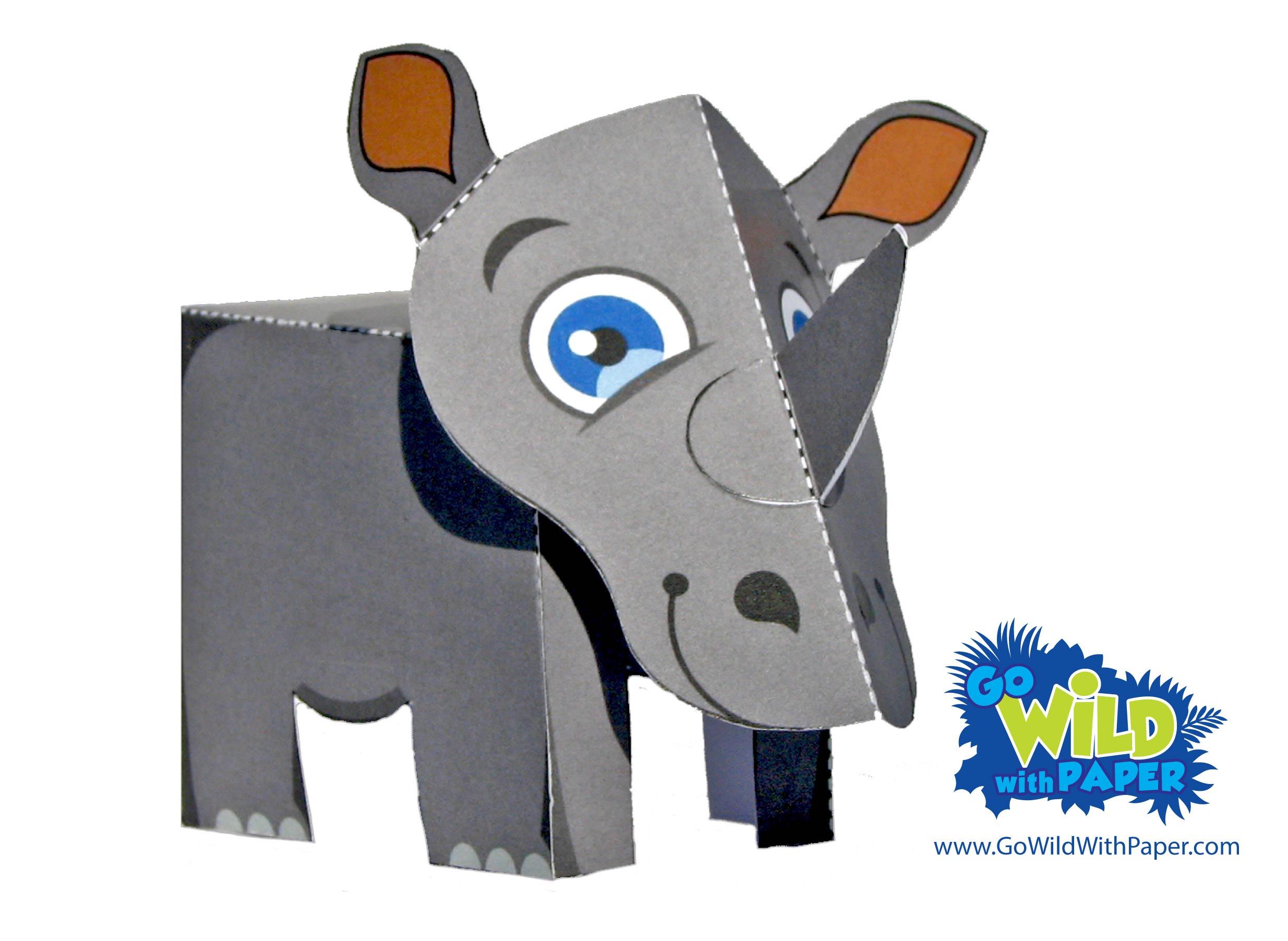 Rhino Paper Model