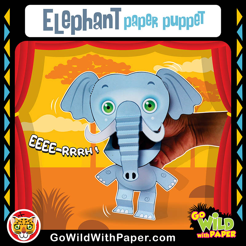 Printable Elephant Puppet