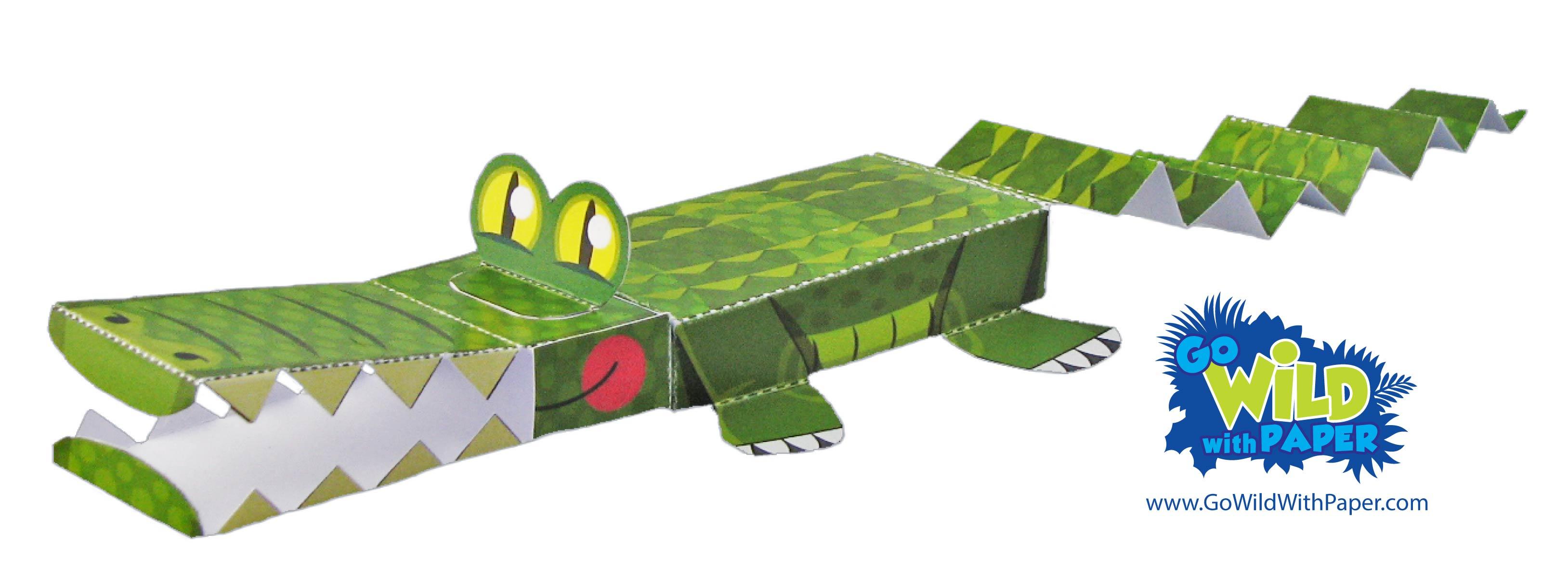 Alligator Paper Model