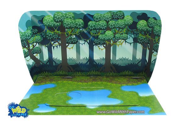 Printable diorama background Wetlands