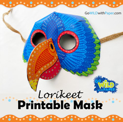 Rainbow Lorikeet Mask