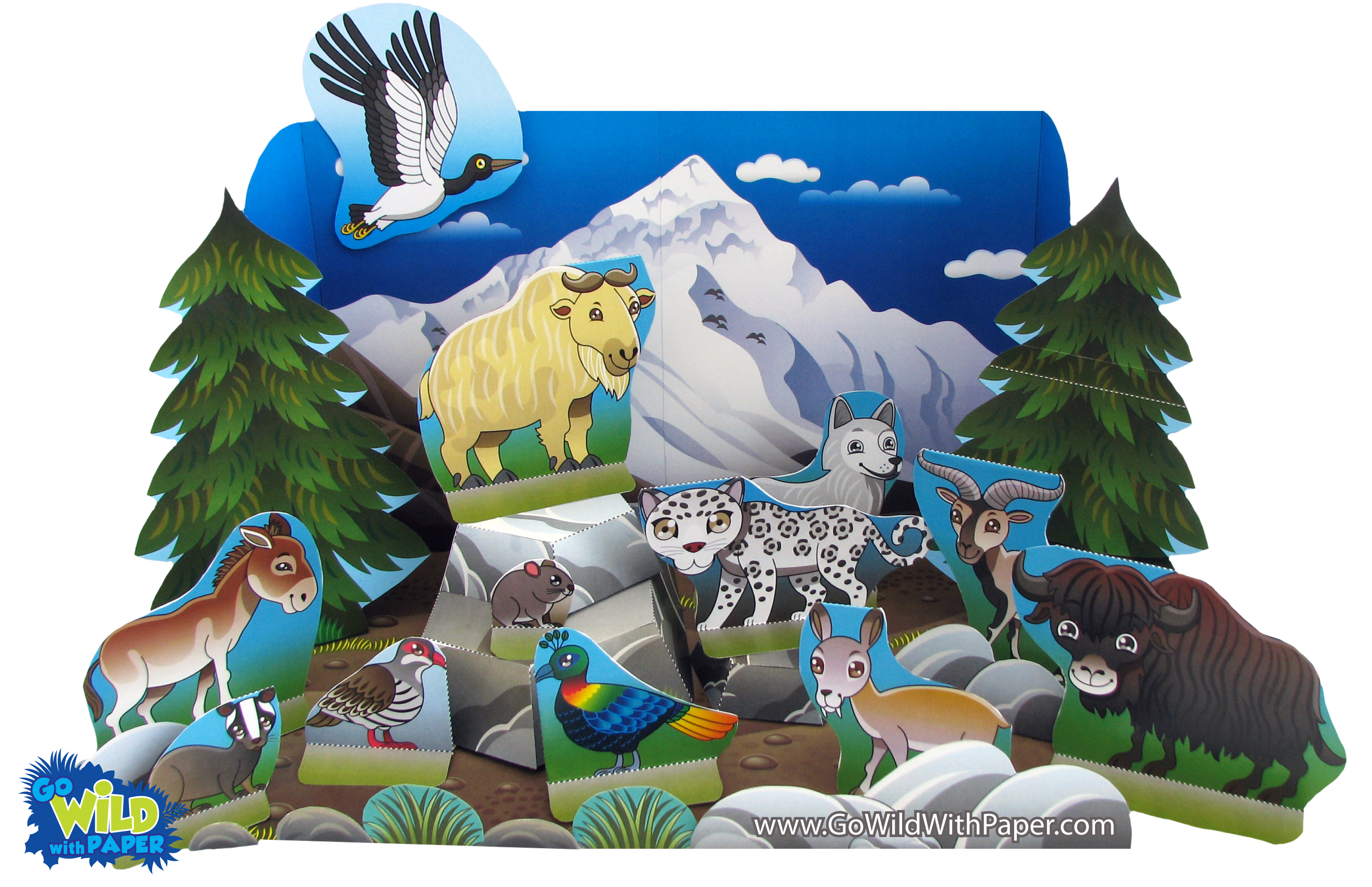 Himalayan Mountain Diorama Project