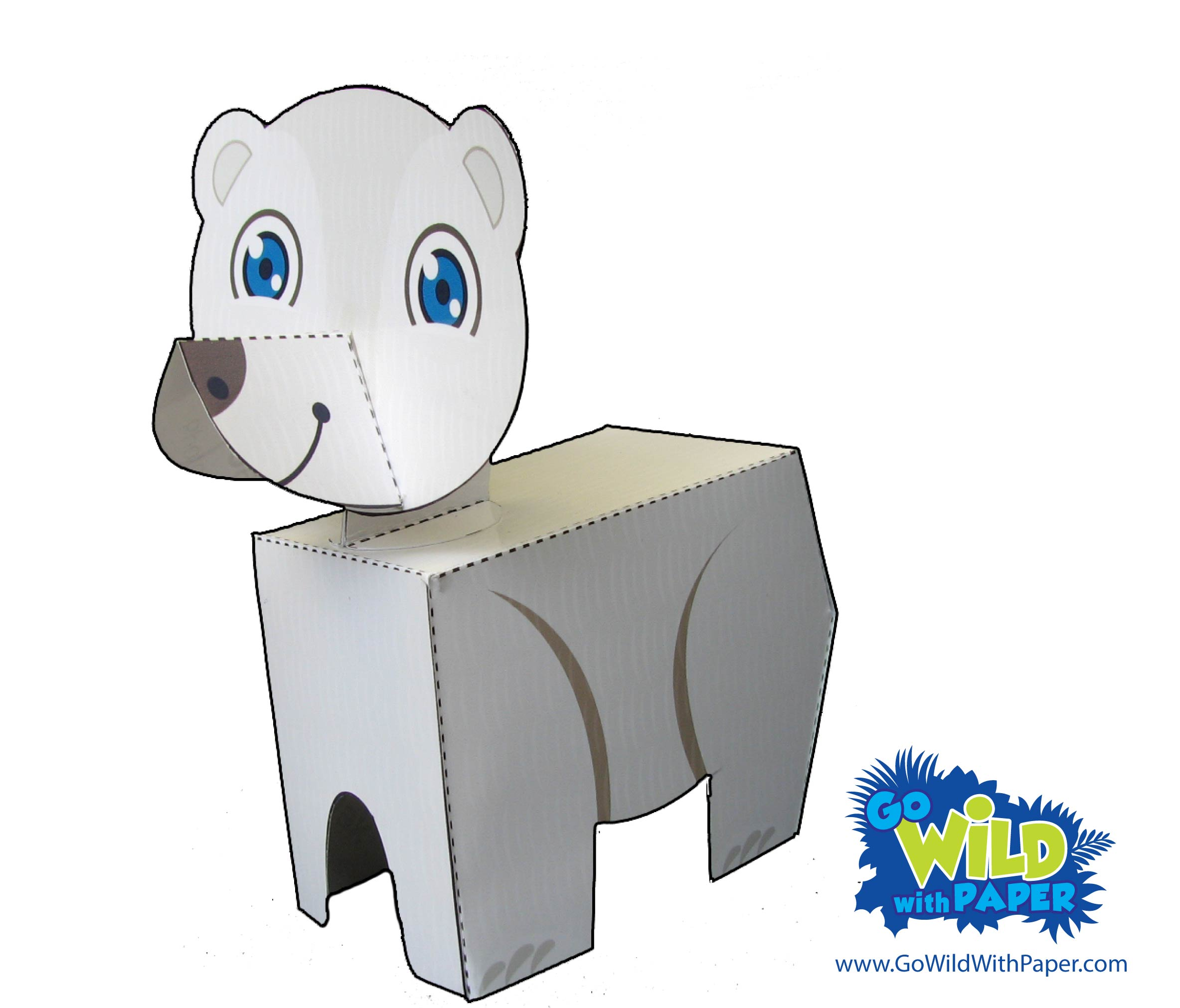 Polar Bear Paper Model