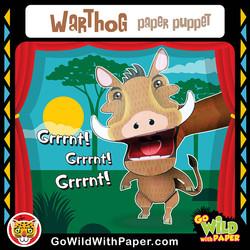 Printable Warthog Puppet