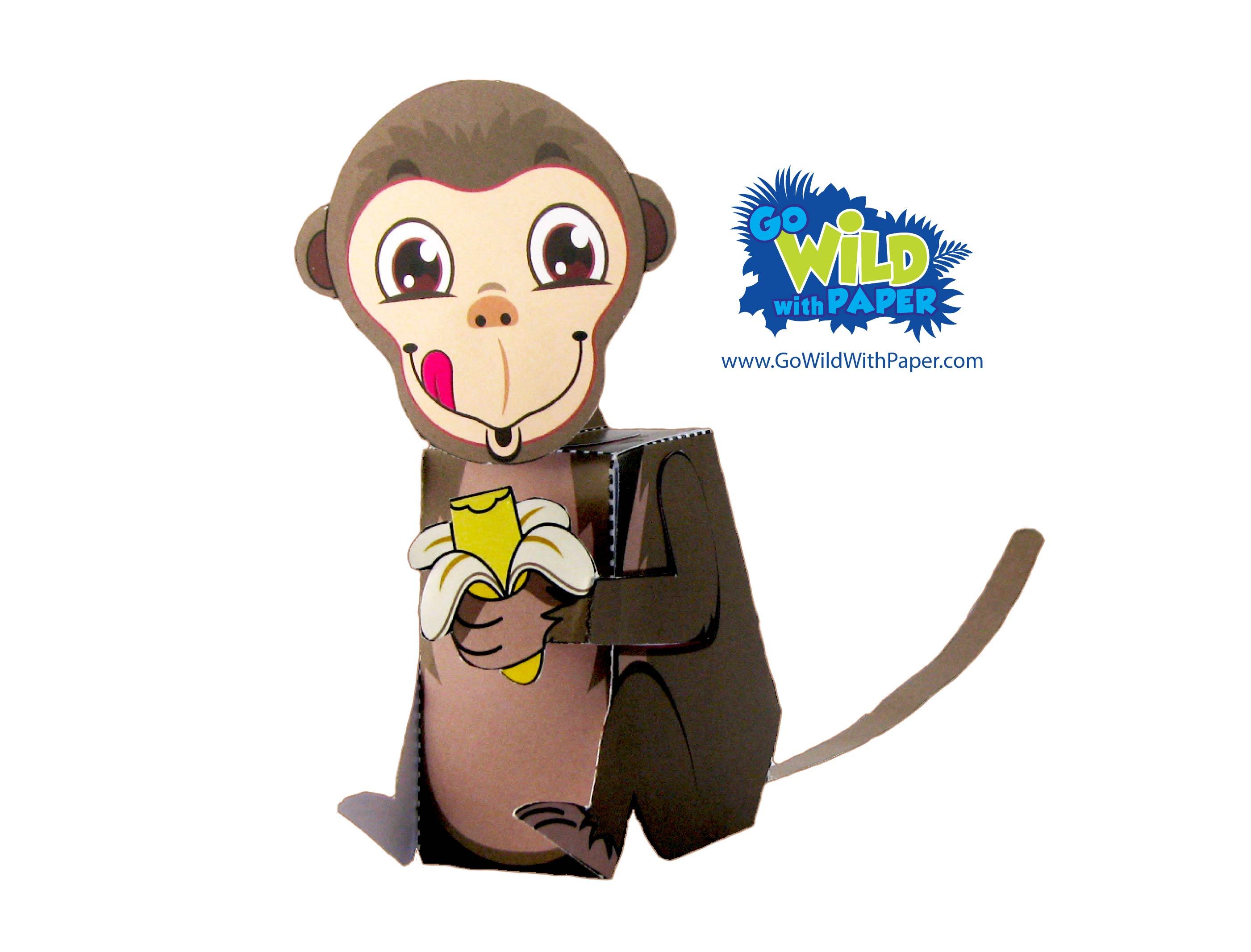 Monkey Paper Model