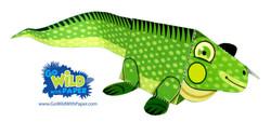 Iguana Paper Model