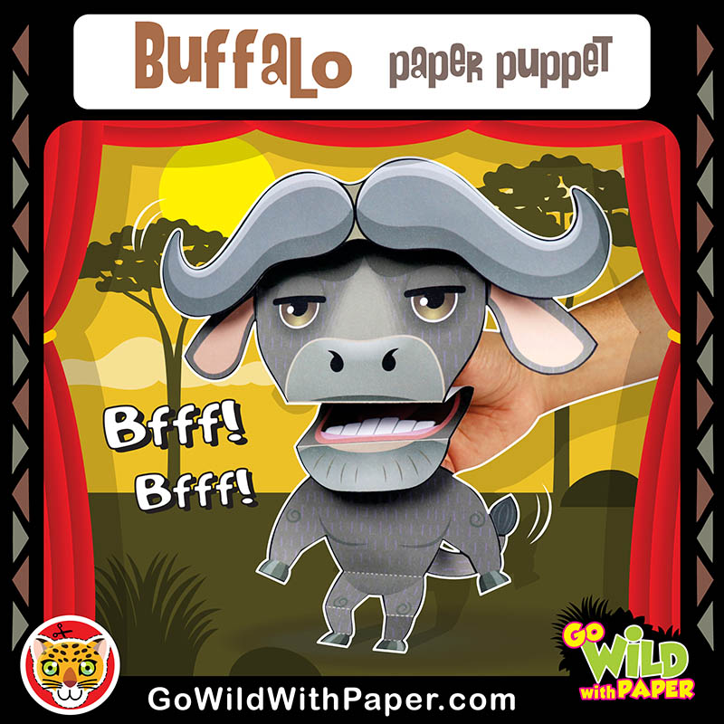 Printable Buffalo Puppet